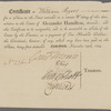 Certificate of William Rogers for one share in trust relative to the estate of Alexander Hamilton