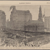 Obsequies of Henry Wilson--the procession passing St. Paul Church, New York.--(From a sketch by Theo. R. Davis.)
