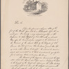 """Res. of Jas. Wilson """"Fort Wilson"""" S.W. corn Third & Walnut  Sts. Philadelphia / drawn from memory by C.A. Poulson. [Facsimile letter by James Wilson, dated September 14, 1775]"""