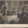 Sir Walter Scott and his literary friends at Abbotsford. Scott. Mackenzie. Wilson. Crabbe. Lockhart. Wordsworth. Jeffrey. Ferguson. Moore. Allen. Canpbell. Wilke. Constable.