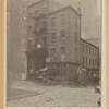 Old building at the northwest corner of William and Beekman Streets, the home of The Druggists Circular from 1857 to 1884, from a photograph taken April 12, 1918. The building has changed but little in the last sixty-odd years