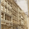 Tenements & storefronts: Mme Ducolomb Ostrich Feathers, Dr E. V. Agnew Dentist; Newman & Holdrith