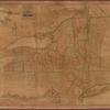 Map of the State of New York and the surrounding country