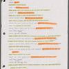 Tom Fitzpatrick's rehearsal script