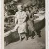 Snapshot of Bessye Bearden, with, possibly, husband Howard Bearden