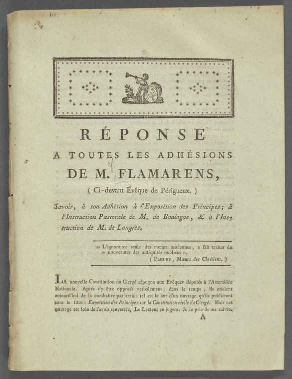 Fascinating Historical Picture of Flamarens, Emmanuel Louis Grossoles de in 1791