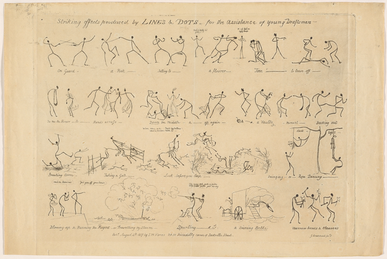 This is What George Cruikshank and Striking effects produced by lines and dots Looked Like  on 8/4/1817