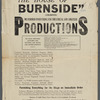 Advertisements and logo artwork for Burnside Productions