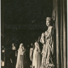 Lady Diana Manners (as Madonna) against pillar in the stage production The Miracle