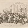 Le Mozzatore ritornando dopo la vendemmia in Roma