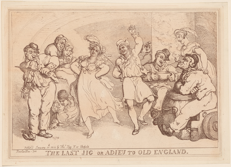 Fascinating Historical Picture of Thomas Rowlandson on 1/20/1818