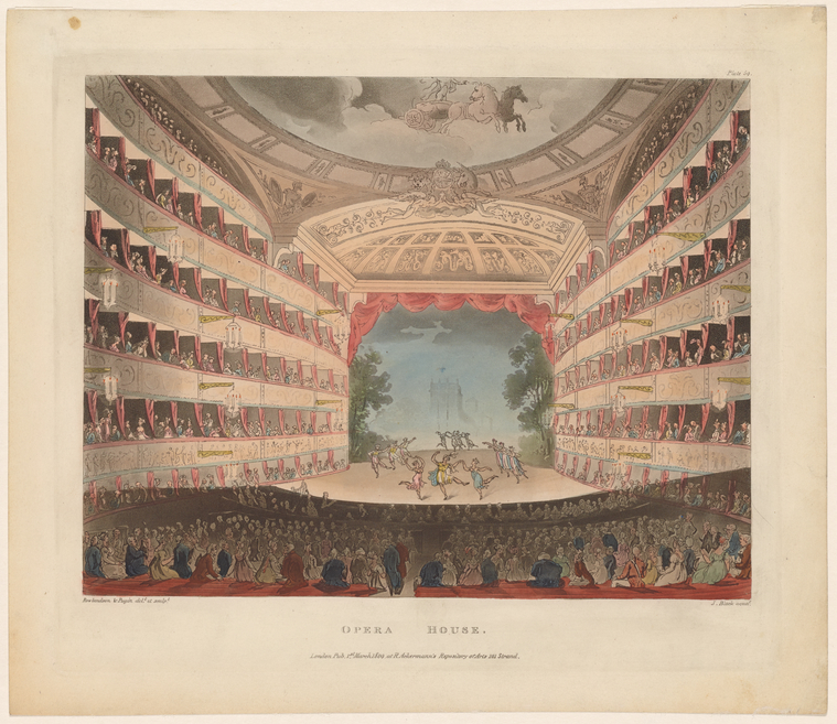 Fascinating Historical Picture of Kings Theatre (London, England) on 3/1/1809