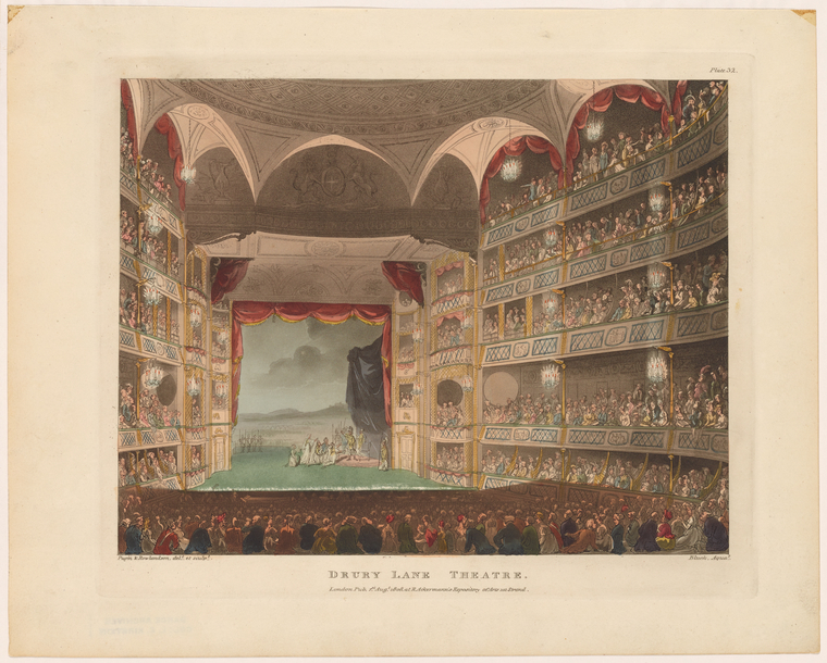 Fascinating Historical Picture of Theatre Royal, Drury Lane on 8/1/1808