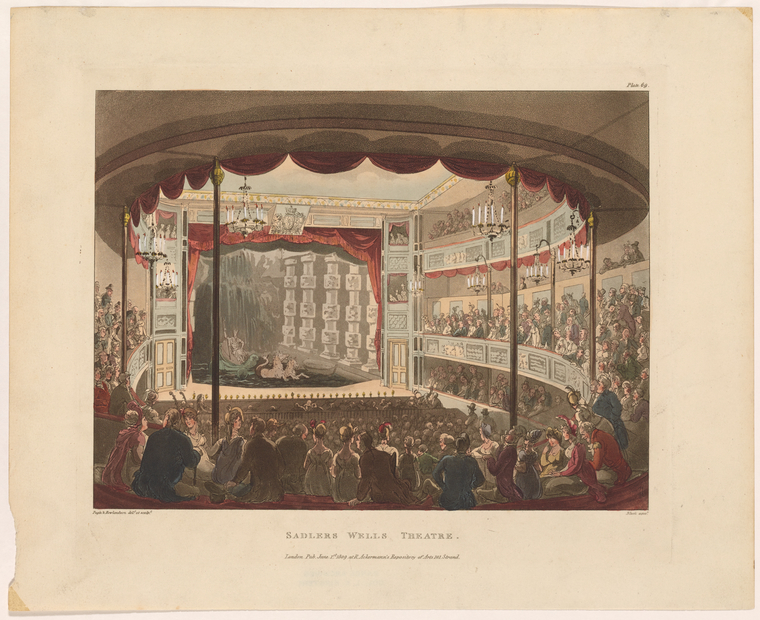 Fascinating Historical Picture of Sadlers Wells Theatre on 6/1/1809