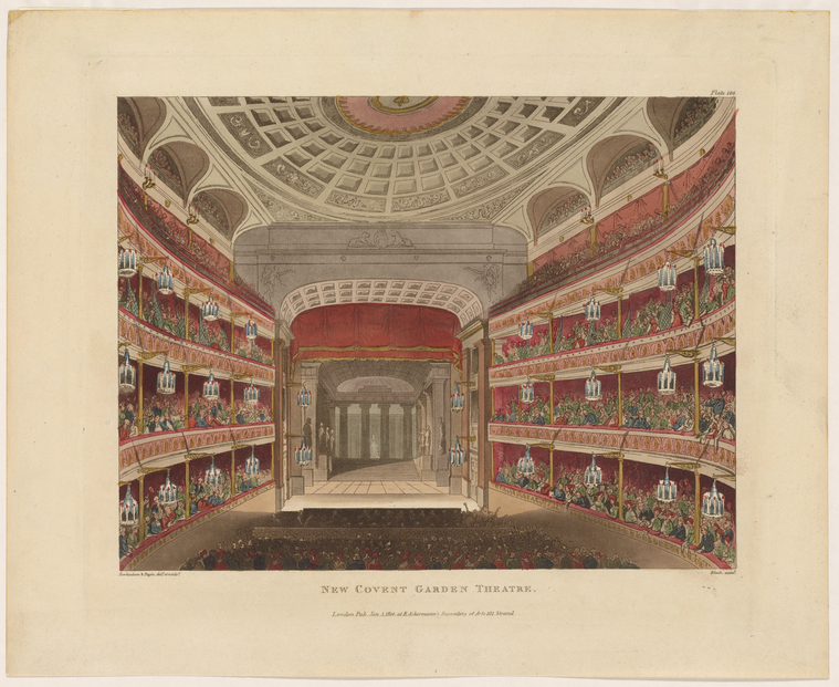 Fascinating Historical Picture of Covent Garden Theatre on 1/1/1810