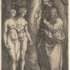 God Forbidding Adam and Eve to Eat from the Tree of Knowledge
