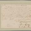 Beekman, Gerardus. New York To the Governor Lord Cornbury