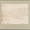 Clarke, George. N.Y. To Mr. [Thomas] Cardale