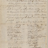 Petition to the New York State Legislature from the Subscribers, Freeholders, and Inhabitants of Orange County