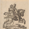 A Man and a Woman Together on a Horse Seen from Behind, Galloping to the Right [recto]; A Lady on a Rearing Horse, to the Left [verso]