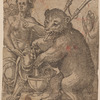A Nymph and a Bear Playing a Bagpipe