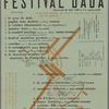 Festival Dada, mercredi 26 mai 1920 à 3 h. après-midi: programme