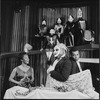 Lincoln Kilpatrick (lower right) and other actors in a scene from the stage production The Blacks