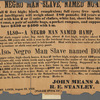 Reward notice for runaway slaves