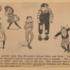 "Unattributed caricature of cast of Vaudeville production School Boys and School Girls performing songs ""When We Were a Couple of Kids"" and ""San Antonio"" as published in the New York World, June 9, 1907"