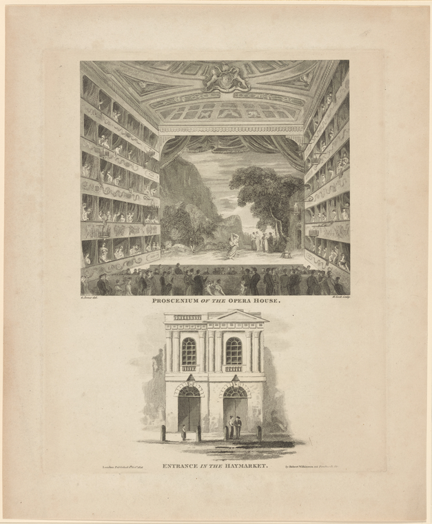Fascinating Historical Picture of Kings Theatre (London, England) on 10/11/1816