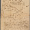 Saml. Devenports draught & survey (survey of land of Samuel Davenport near Allentown, New Jersey, by order of James Alexander, 1752)