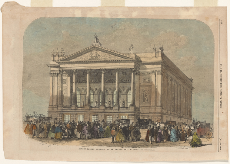 Fascinating Historical Picture of Covent Garden Theatre on 5/15/1858