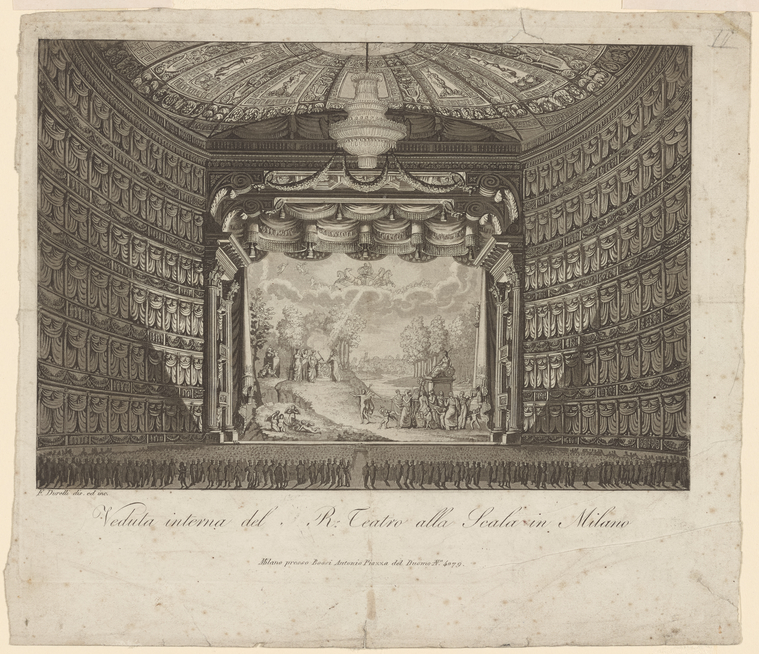 Fascinating Historical Picture of Teatro alla Scala in 1800