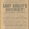 Queen's Theatre, Edinburgh playbills, 1863: portfolio