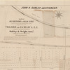 Map of 163 sections or villa sites and a plot of 4 1/3 acres of ground with the mansion & other buildings situated near the centre of the village of Jamaica, L.I: belonging to Wm. J. Cogswell, esq., to be sold at auction by Oakley & Wright, auctrs., on Monday, September 12th, 1853, at 12 o'clock at the Merchants' Exchange, N.Y