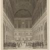 Afbeelding van het prachtige bal, op. de zaal van het Stadhuis, gegenen door de Ed. Achtb. Regering der stad Amsteldam [second line of legend cropped]