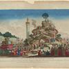 Vue de la montagne elevée au champ de la Reunion pour la fête qui y a êté célebrée en l'honneur de l'Etre Suprême le decadi 20 prairial de l'an 2.me de la République française