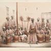 Negersklaven mit den Túmburah-orchester.