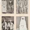 Pilger aus Sukapura (Java), Buginesische Pilger (Celébes), Pilger aus Solok (Sumátra), Pilgerinn aus Banten (Java).