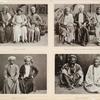 Pilger aus Baçrah [Ba.srah], Pilger aus Bahrain (in der Mitte ein Schêch aus Kabul), Pilger aus Zanzibar, Pilger aus Baghdad.