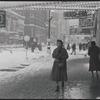 Winter street scene. New York, NY