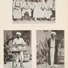 Schêch der Bootsleute in Djiddah [Jiddah] mit drei Zunftgenossen, Süssigkeitskrämer (Djiddah)[Jiddah], Ausrufer und Mäkler (Djiddah) [Jiddah].