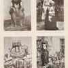 Mekkanerin, Lohndiener und Eunuch mit dem Kinde seines Herrn, Mekkanerin im Brautanzug. Damen in Haus- und Strassentoilette (Djiddah) [Jiddah]. [Aufnahme von Siegfried Langer.]