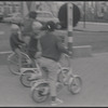Boys riding bicycles [Knokke, Belgium?]