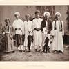 Pilger aus Ambon, Kei und Banda; links der Sohn eines Ambonesen mit einer Mekkanerin.