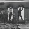 Boys in dilapidated lot. New York, NY