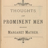Thoughts of prominent men regarding Margaret Mather