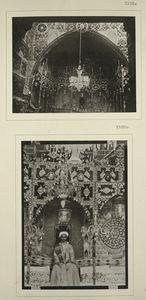 Zwei verschiedene Aufnahmen der Rîkah, des Thronsessels, auf welchen man in Mekka die jungfräuliche Braut in der Duchlah-nacht zu erheben pflegt. Auf B sitzt der Bräutigam dort, wo die Braut sitzen soll. [18 A, B]
