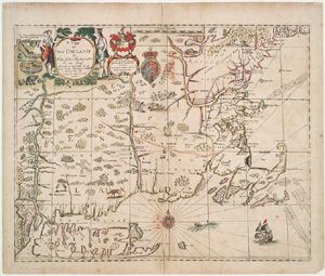 A mapp of New England.