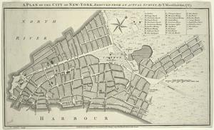 A plan of the city of New-York, reduced from actual survey.